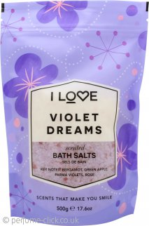 I Love... Violet Dreams Bath Salts 500g