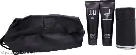 Dunhill Icon Elite Gift Set 100ml EDP + 90ml Shower Gel + 90ml Aftershave Balm + Pouch