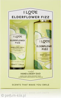 I Love... Elderflower Fizz Gift Set 100ml Hand Cream + 360ml Body Wash