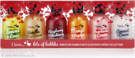 I Love... Lots of Bubbles Gift Set 6 x 100ml Bath & Shower Creme