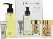 Elizabeth Arden Ceramide Youth Restoring Essentials Gift Set 100ml Cleansing Oil + 5ml Renewal Booster + 30 Serum Capsules