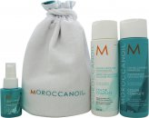Moroccanoil Beauty in Bloom Color Complete Gift Set 8.5oz (250ml) Colour Continue Shampoo + 8.5oz (250ml) Colour Continue Conditioner + 1.7oz (50ml) Prevent and Protect Spray + Bag