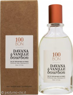 100BON Davana & Vanille Bourbon Eau de Cologne Ricaricabile 50ml Spray