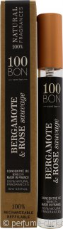 100BON Bergamote & Rose Sauvage Refillable Eau de Parfum 10ml Spray