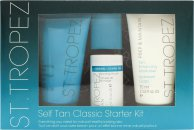 St. Tropez Self Tan Starter Kit Gift Set 75ml Tan Enhancing Body Polish + 75ml Tan Enhancing Body Moisturiser + 50ml Self Tan Bronzing Mousse +  Applicator Mitt