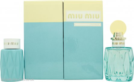 Miu Miu L'Eau Bleue Gift Set 100ml EDP + 100ml Body Lotion