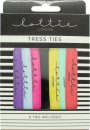 Lottie London Trees Ties Snag Free Hair Ties - Pack Of 5