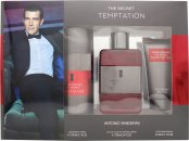 Antonio Banderas The Secret Temptation Gift Set 100ml EDT + 150ml Deodorant Spray + 50ml Aftershave Balm