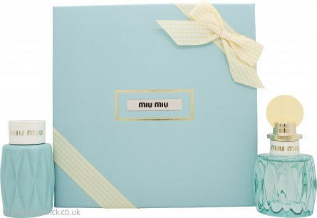 Miu Miu L'Eau Bleue Gift Set 50ml EDP + 100ml Body Lotion
