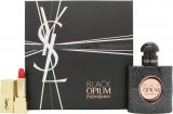 Yves Saint Laurent Black Opium Gift Set 30ml EDP + 1.2ml Rouge Couture Lipstick - No. 1