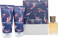 Ted Baker XO Extraordinary For Men Gift Set 30ml EDT + 100ml Aftershave Balm + 100ml Body Wash
