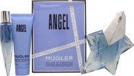 Thierry Mugler Angel Gift Set 50ml EDP Refillable + 10ml EDP + 50ml Shower Gel