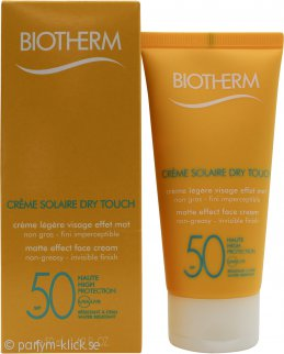 Biotherm Créme Solaire Dry Touch Matte Sunscreen On Your Face SPF 50 50ml