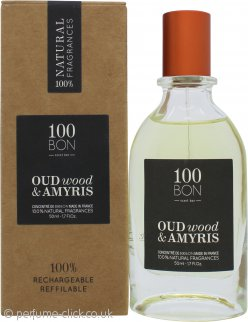 100BON Oud Wood & Amyris Refillable Eau de Parfum Concentrate 50ml Spray