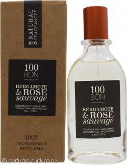 100BON Bergamote & Rose Sauvage Refillable Eau de Parfum Concentrate 50ml Spray