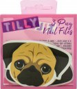 Tilly & Friends Pug Nail Files Gavesett 3 Neglefiler