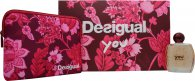 Desigual You Gift Set 100ml EDT + Makeup Bag