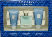 Azzaro Chrome Set Regalo 30ml EDT + 50ml Gel Doccia + 50ml Balsamo Dopobarba