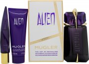 Thierry Mugler Alien Gift Set 60ml Refillable EDP + 50ml Shower Milk + 10ml EDP