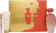 Adolfo Dominguez Unica Coral Gift Set 100ml EDT + 10ml EDT + 75ml Body Lotion