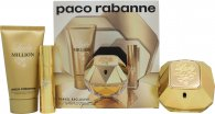 Paco Rabanne Lady Million Gift Set 80ml EDP + 10ml EDP + 75ml Body Lotion