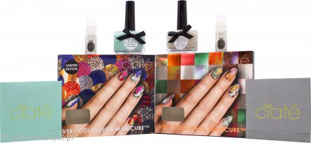 Ciaté Colourfoil Nail Gift Set 13.5ml Kaleidoscope Klash Nail Polish + 13.5ml Wonderland Nail Polish + 2 x 5ml Foil Fix + Foils