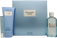 Abercrombie & Fitch First Instinct Blue for Her Gift Set 3.4oz (100ml) EDP + 0.5oz (15ml) EDP + 6.8oz (200ml) Body Lotion