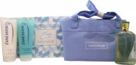 Lancaster Eau de Lancaster Gift Set 125ml EDT + 200ml Body Lotion + 200ml Shower Gel + Bag