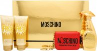 Moschino Fresh Couture Gold Gift Set - 4 Pieces