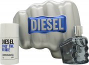Diesel Only The Brave Gift Set 75ml EDT + 75g Deodorant Stick
