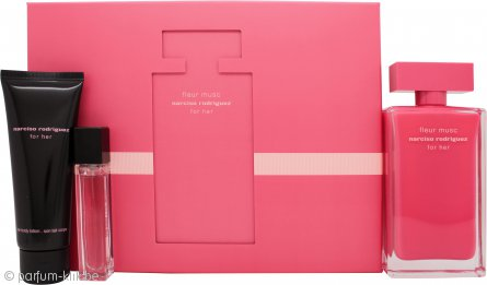 Narciso Rodriguez for Her Fleur Musc Gift Set 100ml EDP + 10ml EDP + 75ml Body Lotion