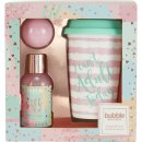Style & Grace Bubble Boutique Travel Mug Gavesett 100ml Bubble Bath + 50g Bath Fizzer + Travel Mug
