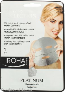 Iroha Nature Divine Platinum Hydra Glowing Face Tissue Mask 1 x Tissue Mask
