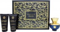 Versace Pour Femme Dylan Blue Gift Set 50ml EDP + 50ml Body Lotion + 50ml Shower Gel