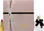 Yves Saint Laurent Mon Paris Gift Set 30ml EDP + 1.3ml Rouge Volupte Shine Lipstick - No. 49