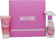 Moschino Fresh Couture Pink Gift Set 1.0oz (30ml) EDT + 1.7oz (50ml) Body Lotion