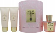 Acqua di Parma Rosa Nobile Gift Set 100ml EDP + 75ml Shower Gel + 75ml Body Creme