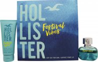 Hollister Festival Vibes For Him Gift Set 1.7oz (50ml) EDT + 3.4oz (100ml) Hair & Body Wash