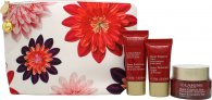 Clarins Super Restorative Gift Set 50ml Day Cream + 15ml Night Cream + 30ml Hand Cream + Toiletry Bag