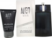 Thierry Mugler Alien Man Gift Set 100ml EDT Refillable + 50ml Shower Gel
