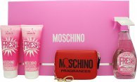 Moschino Fresh Couture Pink Gift Set 100ml EDT + 100ml Body Lotion + 100ml Shower Gel + Wallet
