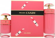 Prada Candy Gloss Gift Set 2.7oz (80ml) EDT + 1.0oz (30ml) EDT