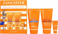 Lancaster Sun Box Gift Set SPF30 50ml Velvet Milk Protectant + 50ml Tan Maximiser + SPF50 3ml Sun Sensitive Cream