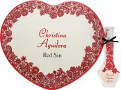 Christina Aguilera Red Sin Geschenkset 30ml EDP + Herz-Metallbox