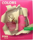 Benetton Colors de Benetton Pink Gift Set 50ml EDT + 150ml Deodorant Spray