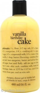 Philosophy Vanilla Birthday Cake Shampoo,Shower Gel & Bubble Bath 480ml