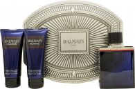 Balmain Homme Gavesett 100ml EDT + 100ml Dusjgel + 100ml Aftershave Balm