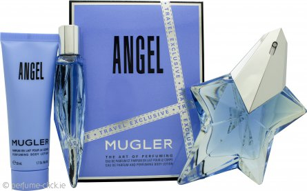 Thierry Mugler Angel Gift Set 50ml EDP Refillable + 10ml EDP + 50ml Body Lotion