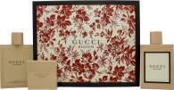Gucci Bloom Gavesæt 100ml EDP + 100ml Body Oil + 100g Parfumeret Sæbe
