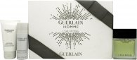 Guerlain L'Homme L'Eau Boisée Gift Set 80ml EDT + 75ml Shower Gel + 50ml Dezodorant